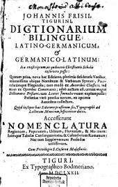 Dictionarium bilingue: latino-germanicum et germanico-latinum, Band 2