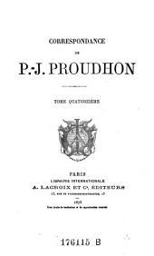 Correspondance de P.-J. Proudhon