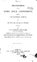 Proceedings of the Home Rule Conference PDF