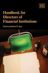 Handbook for Directors of Financial Institutions