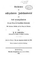Geschichte des achtzehnten jahrhunderts und des neumzehnten bis zum sturz des franz  ischen kaiserreichs PDF
