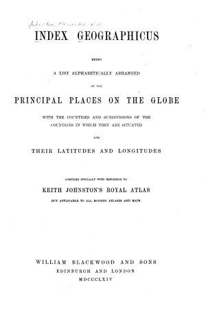 Index Geographicus