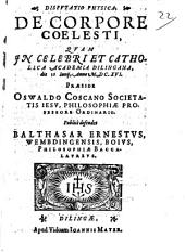 Disputatio Physica De Corpore Coelesti