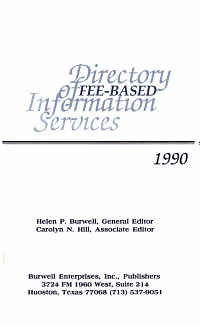 Directory of Fee Based Information Services PDF