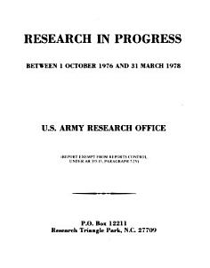 Research in progress