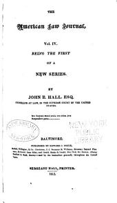 The American Law Journal and Miscellaneous Repertory: Volume 4