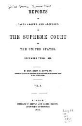 Reports of Cases Argued and Adjudged in the Supreme Court of the United States: Volume 10