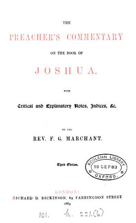 The preacher s commentary on the book of Joshua PDF