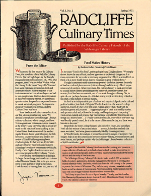 Radcliffe Culinary Times PDF