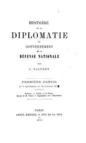 Histoire de la diplomatie du Gouvernement de la défense nationale