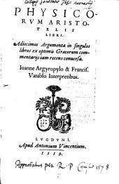 Physicorum Aristotelis Libri