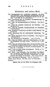 Journal für Chemie und Physik. Hrsg. von J(ohann) S(alomon) C(hristoph) Schweigger: Band 100