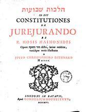 Constitutiones de jurejando