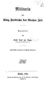 Militaria aus König Friedrichs des Grossen Zeit, etc