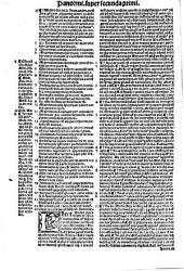 Commentaria seu Lectura in ... Decretalium librum: Secu[n]da Panormi[tani] in Primu[m] Decre[talium], Volume 1, Issue 2