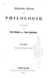 Rheinisches Museum für Philologie: Band 44