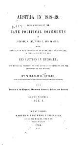 Austria in 1848-49: Volume 1