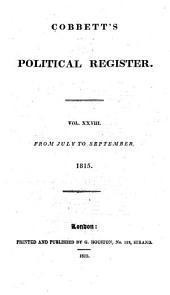 Cobbett's Political Register: Volumes 28-29