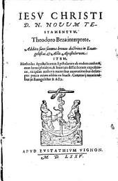 Jesu Christi novum testamentum Theodoro Beza interprete