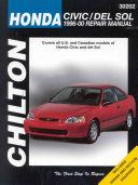 Chilton's Honda Civic and Del Sol, 1996-00 Repair Manual