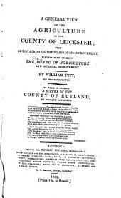 Agricultural Surveys: Leicester and Rutland (1809)