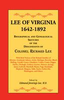 Lee of Virginia  1642 1892 PDF
