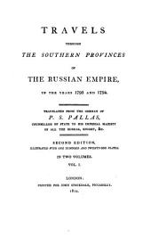 Travels Through the Southern Provinces of the Russian Empire: In the Years 1793 and 1794