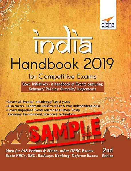 Free Sample  INDIA Handbook 2019 for Competitive Exams   2nd Edition PDF