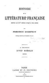 Histoire de la littérature française, depuis le XVIe siècle jusqu'à nos jours: Volume27