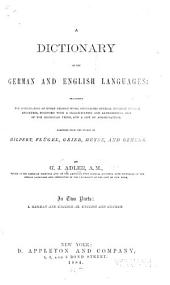 A Dictionary of the German and English Languages ...