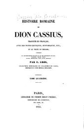 Histoire romaine de Dion Cassius: traduite en français, Volume4