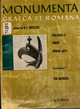 Greek Minor Arts  The bronzes  by Cl  Rolley PDF