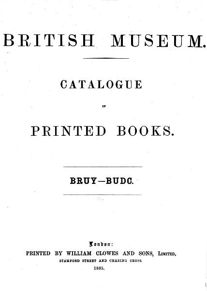Download Catalogue of Printed Books Book