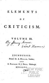 Elements of Criticism: Volume 3