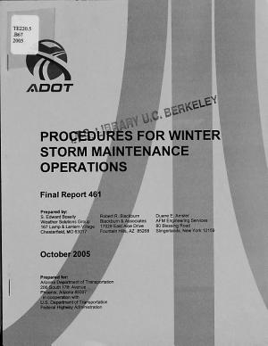 Procedures for Winter Storm Maintenance Operations PDF