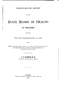 Public Documents of the State of Wisconsin  Being the Biennial Reports of the Various State Officers  Departments and Institutions PDF