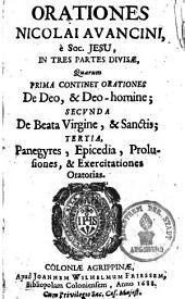 Orationes ...: in tres parte divisae ..., Volume 1