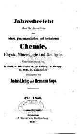 Jahresbericht über die fortschritte der chemie und verwandter theile anderer wissenschaften ...