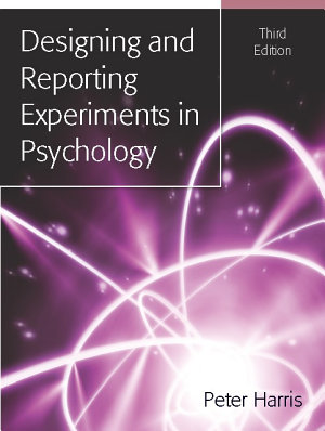 EBOOK  Designing and Reporting Experiments in Psychology