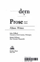 Modern American Prose PDF