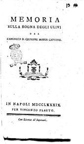 Memoria sulla rogna degli ulivi del canonico d. Giuseppe Maria Giovene