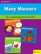 Many Manners: Mrs. E's Extraordinary Manners Activities