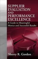 Supplier Evaluation and Performance Excellence PDF