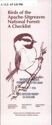 Birds of the Apache-Sitgreaves National Forest: a checklist