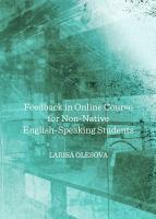Feedback in Online Course for Non Native English Speaking Students PDF