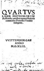 Quartus liber meteororum Aristotelis