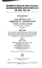 Department of Housing and Urban Development, and Certain Independent Agencies Appropriations for Fiscal Year 1980