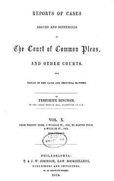 Report of cases argued and determined in the English courts of common law PDF