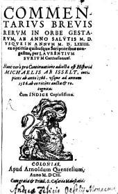 Commentarius brevis rerum in orbe gestarum