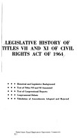 Legislative History of Titles VII and XI of Civil Rights Act of 1964 PDF